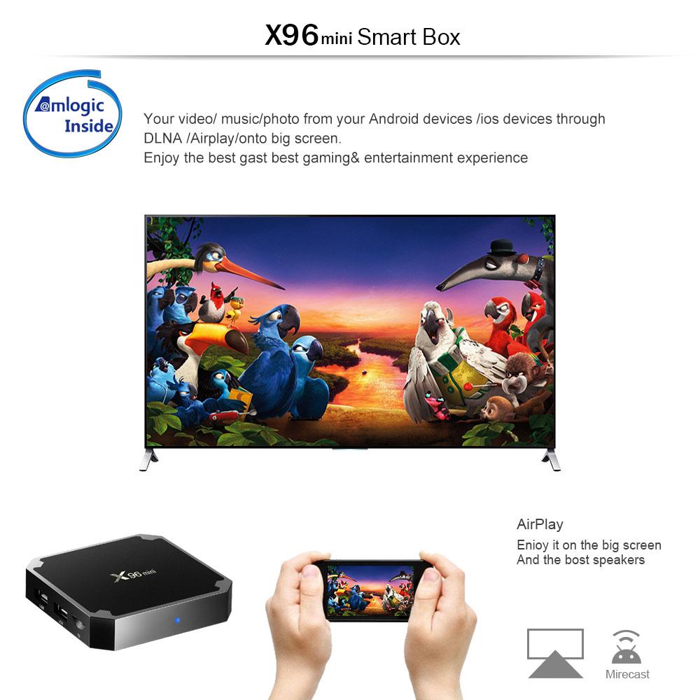 X96 Mini Smart Android TV Box 2GB RAM + 16GB ROM • Thingaly